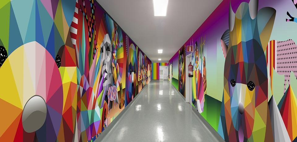 paneles de madera para hospitales