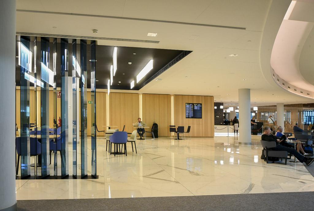 Construccion de las salas VIP del aeropuerto de Barcelona