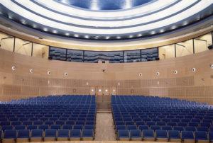 Panelados madera auditorio Universidad Rey Juan Carlos